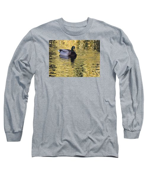 Mallard Drake On Gold Long Sleeve T-Shirt