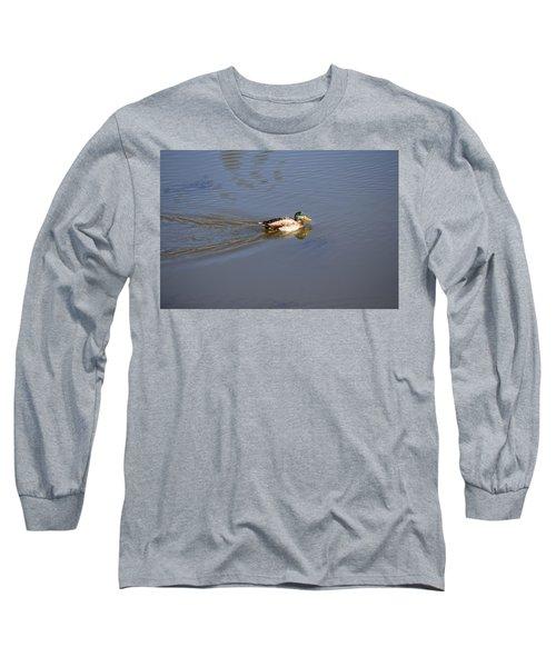 Mallard Duck Burgess Res Co Long Sleeve T-Shirt