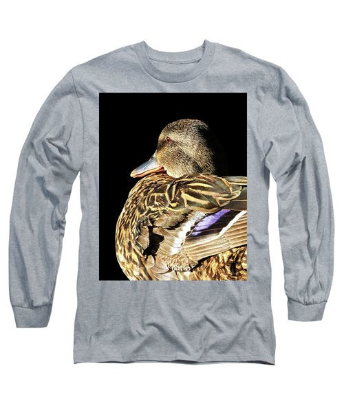 Mallard Duck Portrait Long Sleeve T-Shirt