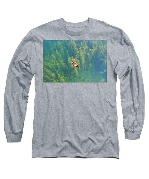 Mallard Over Seaweed Long Sleeve T-Shirt