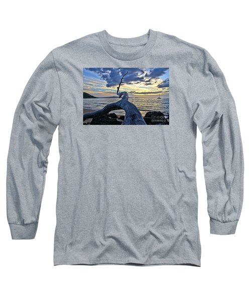 Maluaka Beach Sunset Long Sleeve T-Shirt