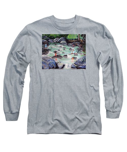 Mami Lavando Ropa Long Sleeve T-Shirt