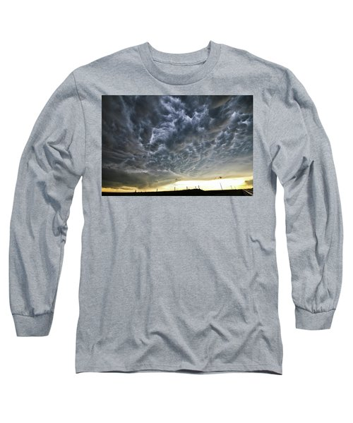 Mammatus Over Nebraska Long Sleeve T-Shirt