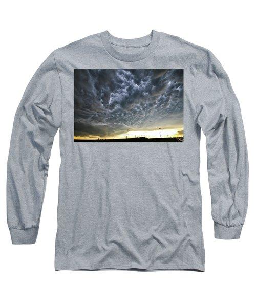 Mammatus Over Nebraska Long Sleeve T-Shirt