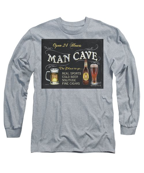 Man Cave Chalkboard Sign Long Sleeve T-Shirt