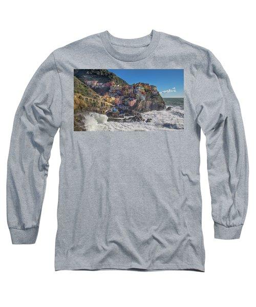 Manarola In Cinque Terre  Long Sleeve T-Shirt