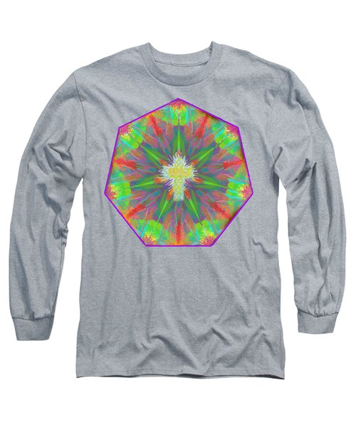 Mandala 1 1 2016 Long Sleeve T-Shirt by Hidden Mountain