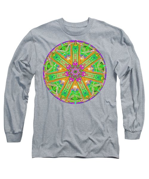 Mandala 12 27 2015 Kings And Priests Long Sleeve T-Shirt by Hidden Mountain