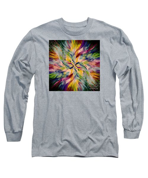 Long Sleeve T-Shirt featuring the photograph Mandala Twirl 04 by Jack Torcello