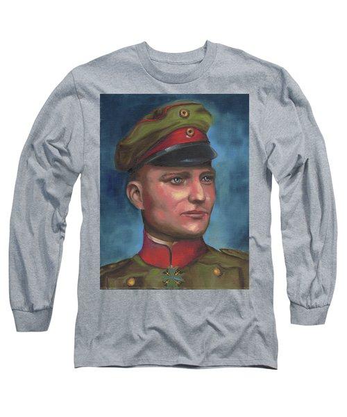 Manfred Von Richthofen The Red Baron Long Sleeve T-Shirt
