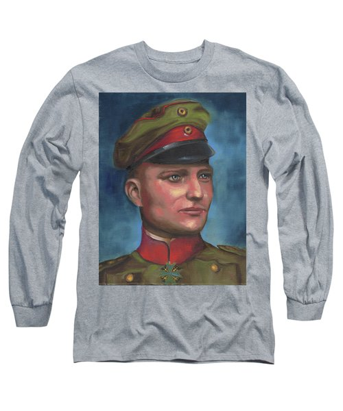 Manfred Von Richthofen The Red Baron Long Sleeve T-Shirt