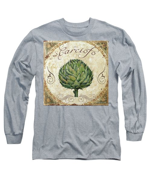 Mangia Artichoke Long Sleeve T-Shirt by Mindy Sommers