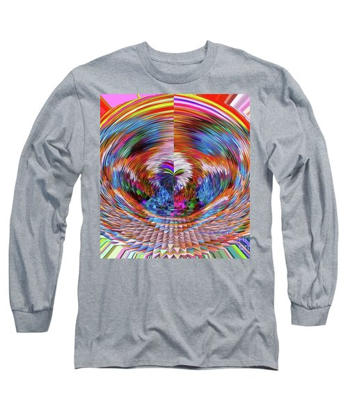 Long Sleeve T-Shirt featuring the digital art Many Colors Of Love  by Annie Zeno
