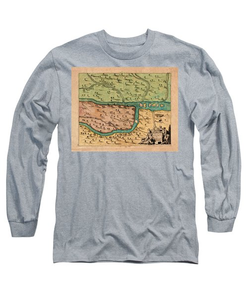 Map Of Iraq 1680 Long Sleeve T-Shirt by Andrew Fare
