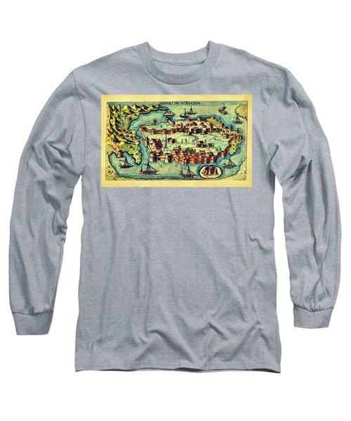 Map Seaport Long Sleeve T-Shirt