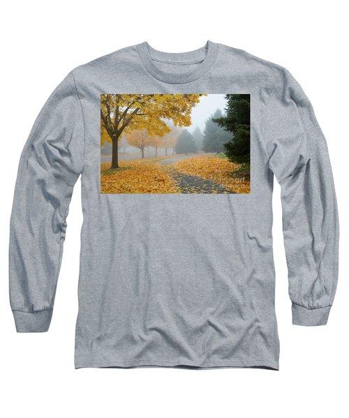 Maple Leaf Path Long Sleeve T-Shirt