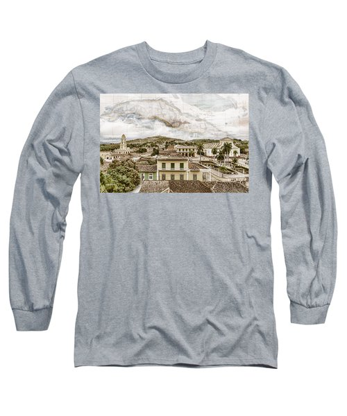 Mapping Trinidad Long Sleeve T-Shirt
