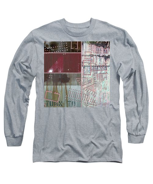 Maps #17 Long Sleeve T-Shirt by Joan Ladendorf