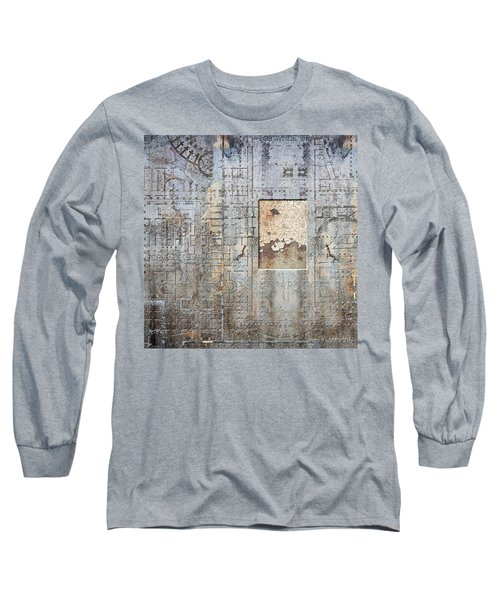 Maps #18 Long Sleeve T-Shirt by Joan Ladendorf