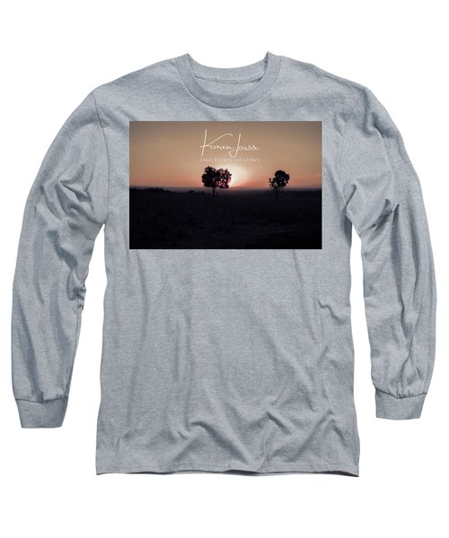 Long Sleeve T-Shirt featuring the photograph Mara Morning by Karen Lewis