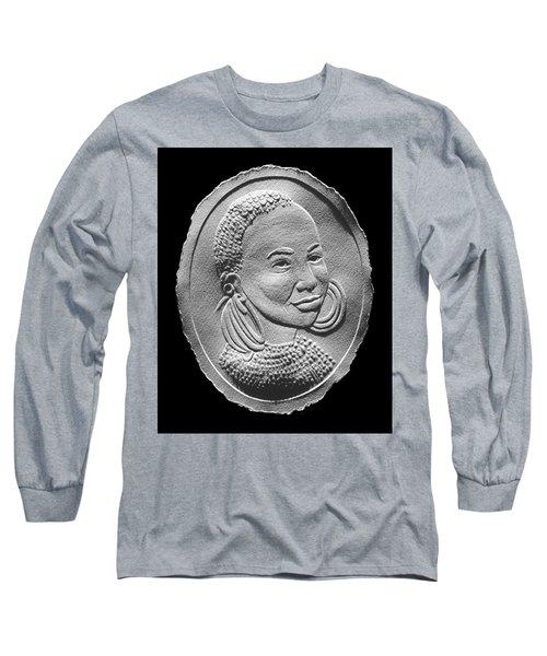 Marakwet Tribe Woman Relief Portrait Long Sleeve T-Shirt