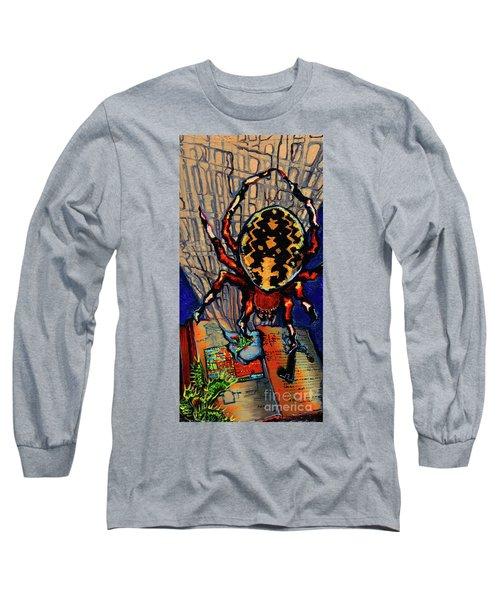 Marbled Orbweaver Long Sleeve T-Shirt by Emily McLaughlin