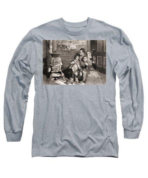 March 1937 Scott's Run, West Virginia Johnson Family. Long Sleeve T-Shirt