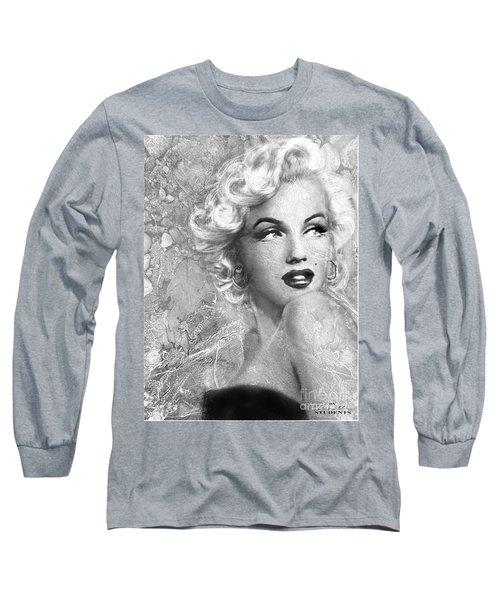 Marilyn Danella Ice Bw Long Sleeve T-Shirt