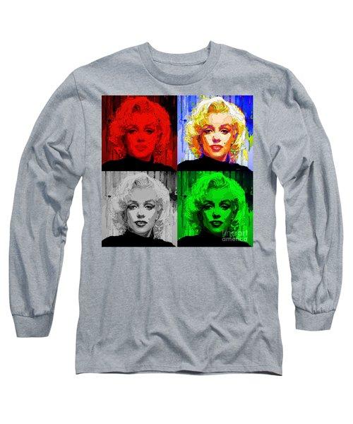 Marilyn Monroe - Quad. Pop Art Long Sleeve T-Shirt