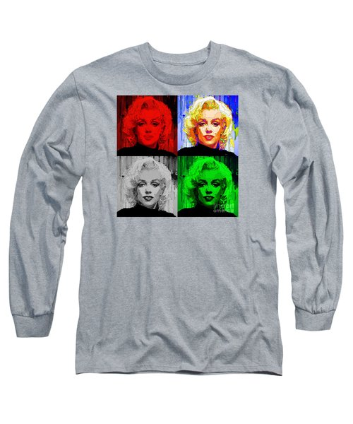 Marilyn Monroe - Quad. Pop Art Long Sleeve T-Shirt
