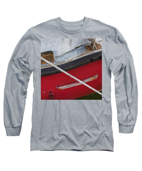 Long Sleeve T-Shirt featuring the photograph Marine Abstract by Charles Harden