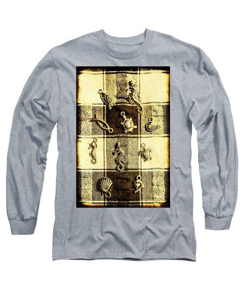 Marine Theme Long Sleeve T-Shirt