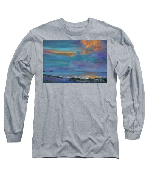 Long Sleeve T-Shirt featuring the painting Mariners Beacon by AnnaJo Vahle