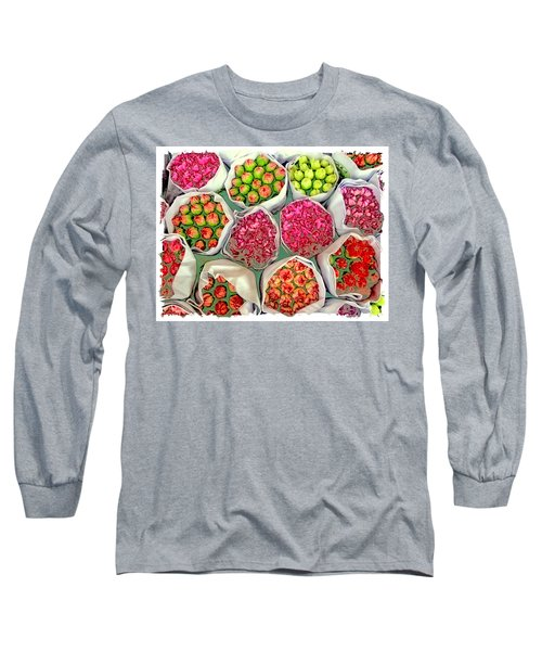 Market Flowers - Hong Kong Long Sleeve T-Shirt