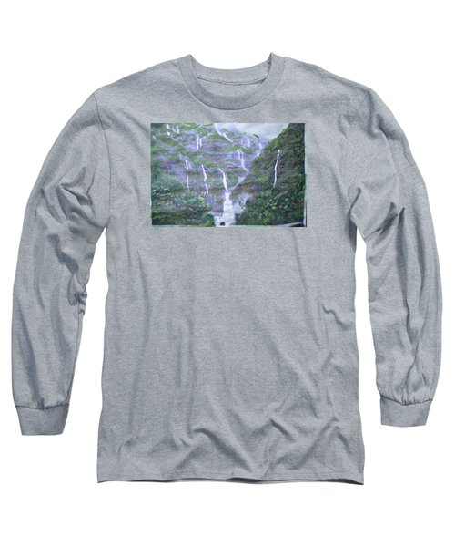 Long Sleeve T-Shirt featuring the painting Marleshwar by Vikram Singh