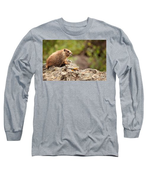 Long Sleeve T-Shirt featuring the photograph Marmot by Lana Trussell