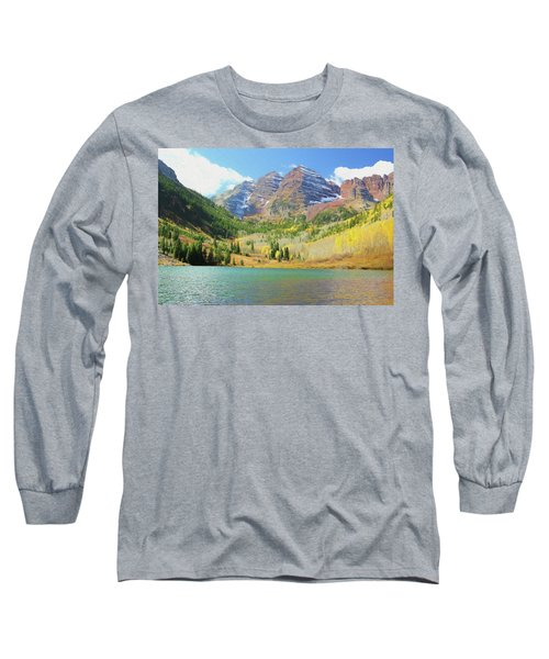 Long Sleeve T-Shirt featuring the photograph The Maroon Bells Reimagined 2 by Eric Glaser