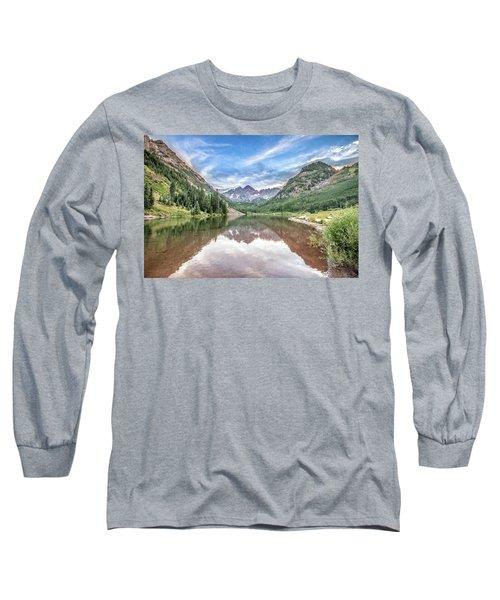 Maroon Bells Near Aspen, Colorado Long Sleeve T-Shirt