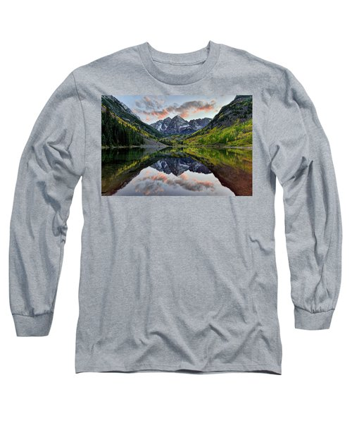 Maroon Bells Sunset Long Sleeve T-Shirt