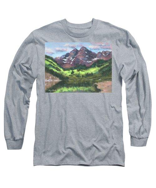 Maroon Reflections Long Sleeve T-Shirt