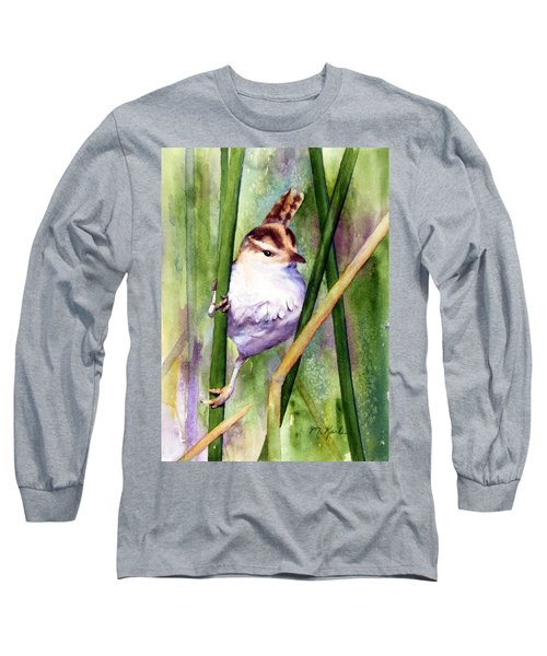 Silver Creek Marsh Wren Long Sleeve T-Shirt