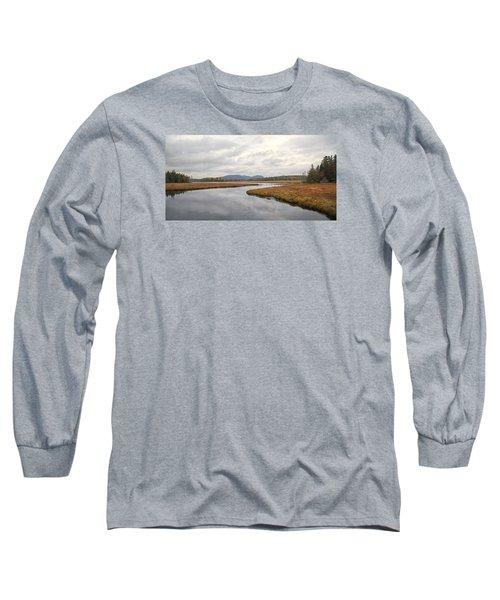 Marshall Brook No. 2 - Acadia - Maine Long Sleeve T-Shirt
