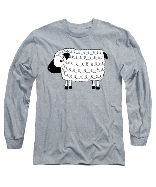 Marshmallow The Sheep Long Sleeve T-Shirt by Lucia Stewart
