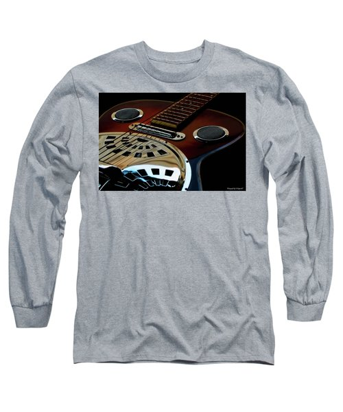 Martinez Guitar 002 Long Sleeve T-Shirt by Kevin Chippindall