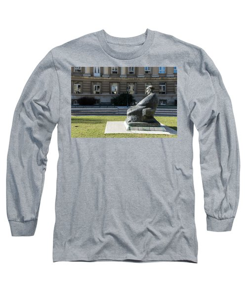 Marulic Square Zagreb  Long Sleeve T-Shirt by Steven Richman