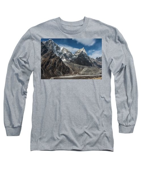 Long Sleeve T-Shirt featuring the photograph Massive Tabuche Peak Nepal by Mike Reid