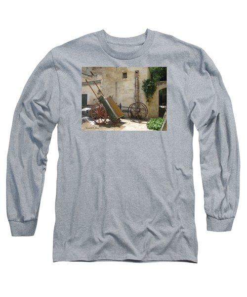 Matera Old Horsecart Italy Long Sleeve T-Shirt