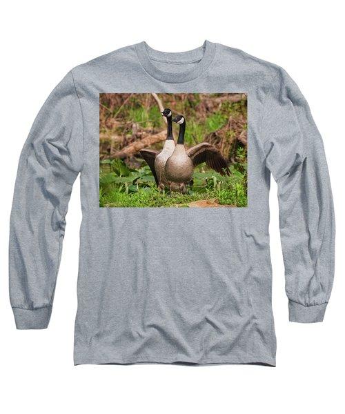 Mating Pair Guarding The Nest Long Sleeve T-Shirt