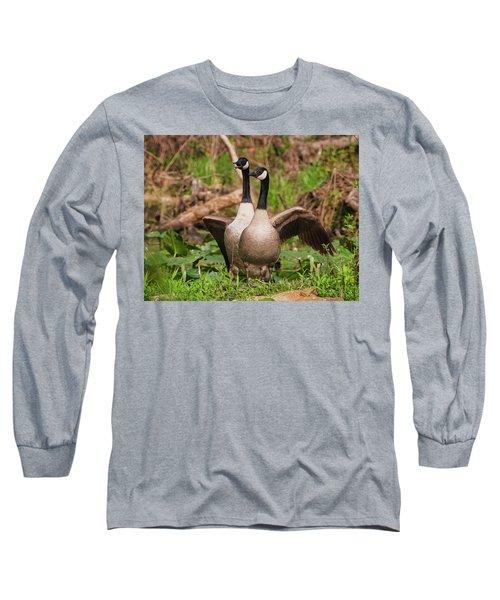 Mating Pair Guarding The Nest Long Sleeve T-Shirt