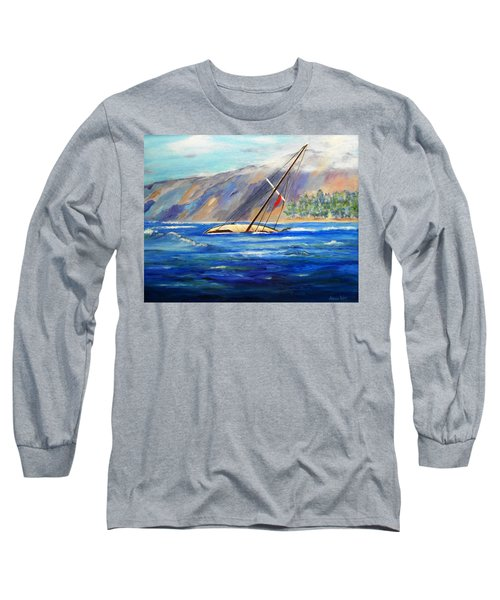 Maui Boat Long Sleeve T-Shirt by Jamie Frier